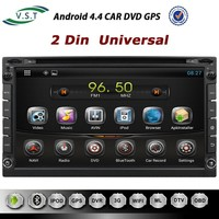 Pure android 4.4 system Car dvd radio+dvd+gps+mp3+wifi+bluetooth for 2 Din Universal