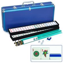 Mahjong Set American Mahjong Tiles Blue Mah jong Set with Blue Aluminum Case