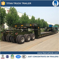 New 2 OR 3 axles Low bed semi trailer 40-100 tons dolly semi-trailer