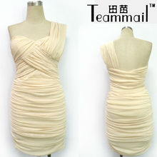 señoras vestidos de cóctel de moda, un diseño de hombro 2013