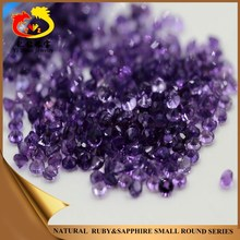 Competitive price round shaped diamond cut natural amethyst