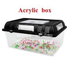 Crystal organic glass custom acrylic animal case pet box custom for reptile breeding feeding insects crawler