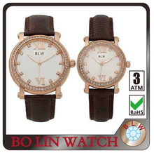 couple watches/solid 316L stainless steel/IP Rose Gold/high grade genuine/CNC rhinestones/5 ATM, watch lover japan movement
