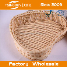 New style handcraft customized PP Rattan storge baskets/ PP plastic baskets/food basket with LFGB certification