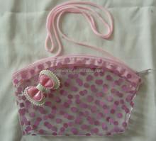 pink pvc baby handbag