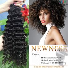 Best Selling!!!! Good Luster Deep Curly virgin indian deep curly hair