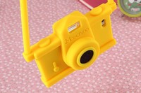 Hot sale Factory direct new style vintage camera shape silicone cell phone case for iphone 6 wholesale