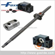 TBI 16mm Diameter 5mm Pitch SFU1605 Ball Screw 1605 With Support Unit FF12 FK12