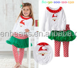New Design Christmas Clothes Sets Children's Red Tutu Dress & Legging Christmas Sets Lovely christmas Santa outfits