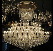 crystal big size chandelier for hotel lobby