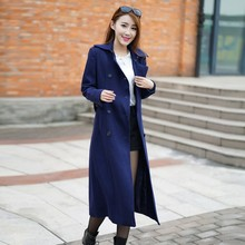 2015 New design Winter Style big brand top quality double-button woolen great blue coats for adults women OEM service