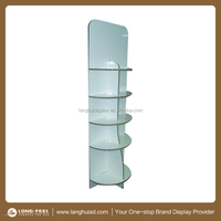 Glossy glass paper multi-layers floor display stand