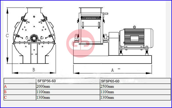 2014 China brand new tear-circle hammer mill for animal feed processing