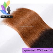Wholesale Ombre Double Drawn Hair Weft charming hair extension