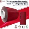 high gloss pvc film laminated steel sheet for refrigerator doors panel