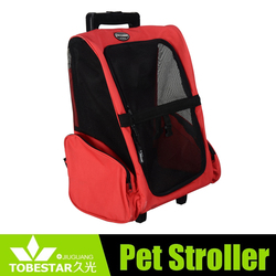 Cute design pet outdoor travel backpack/carrier/Backpack dog travel pet carrier with trolley