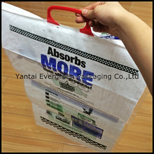 pp woven bag with one lamination handle customized logo from china factory