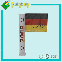 Cheering hand held stick with paper flag