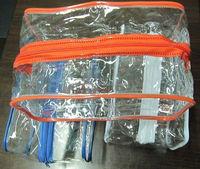 round bag zipper/ velvet drawstring bag/ promotion soft pvc pen bag