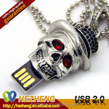 Luxury 32GB Skull Jewelry Necklace USB Thumb Drive