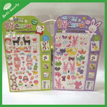 3D Cartoon Animal Shaped Puffy Sticker Sheets For Kids