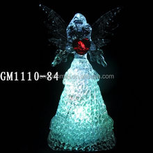 factory supplier hotsell fashion light changing angel lighted figurine