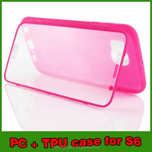 TPU PC full cover case for samsung galaxy s6, mobile phone shell for samsung galaxy s6 new products for 2015
