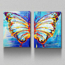 Giclee canvas art with butterfly