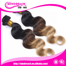 Top quality Cheap price body wave products china brazilian hair extensions 3 tone
