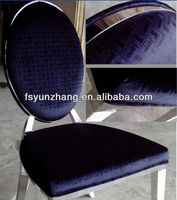 simple design blue velvet fabric dining chairs