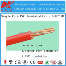 1.5mm 2.5mm 4mm 6mm 10mm house wiring single core 300/500v copper building electrica copper wire /cable prices standard IEC