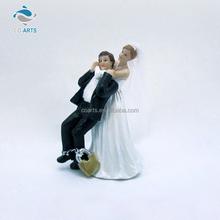 Charming design resin craft romantic couple luxury wedding decoration