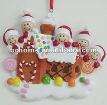 Names christmas ornaments with gingerhouse family