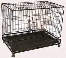 Dog Wire Cage With 4 Wheels