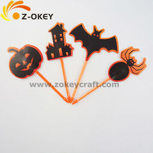 low prcie decoration Paper flag and cupcake topper hand-made paper Halloween decoration