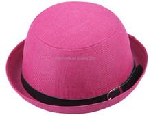2015 new custom high quality fedora hat rack flower girl net dresses
