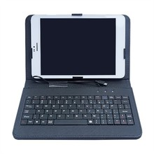 Keyboard leather case with USB cable for 7in to 10.1in tablet PC