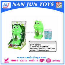 Outdoor interesting animal shape Frog Panda Cat Dog electric automatic bubble blowing toys for kids