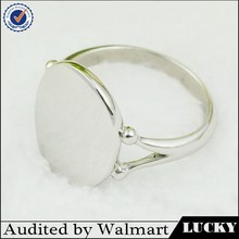 Wholesale Fashion plain blanks stainless steel ring