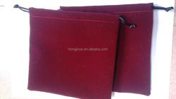 High quality velvet jewelry pouch velvet gift pouch velvet drawstring pouch bag custom logo for jewelry Ipad mini bag