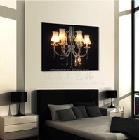 Blow sensor paintings on canvas,led canvas wall art christmas,wall art with led lights canvas print lighted candle picture
