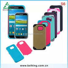 PVC+Silicone 2in1case for Galaxy S6, for Galaxy S6 shockproof back cover case