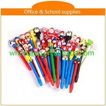 High quality cartoon polymer clay ball pens click action style pen