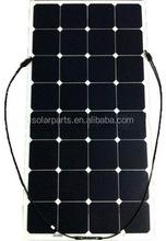 100W flexible solar with sunpower solar cells for yacht & RV