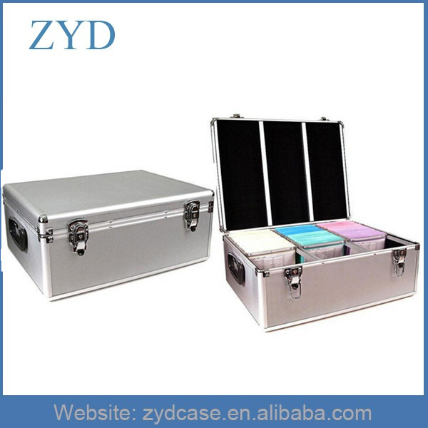 Silver Aluminum Hard Metal Cute CD DVD Case ZYD-CD82003