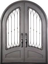Full handicraft sturdy wrought iron door for residence
