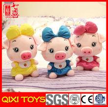 Holiday handmade pig toys stuffed plush pig toys