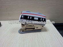 ABS promotion customized special shape Printed Mini stapler assorted train