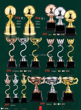 2015 High Quality soccer shape zinc alloy Trophy Cups for Collection