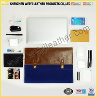 New Custom Made Leather Canvas Latop Sleeve Briefcase Protector Organizer Case Cover For Notebook And For Macbook